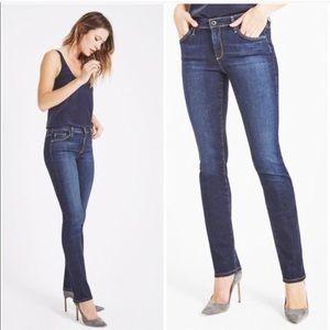 AG The Edie Mid Rise Skinny Straight Jeans